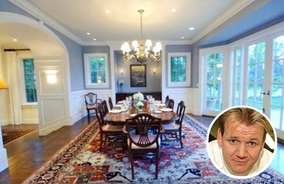 Gordon Ramsay's relaxing classic paint colour dining room