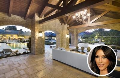 Kim Kardashian's warm paint colour scheme