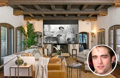 Robert Pattinson's classic paint themed living room