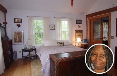 Whoopi Goldberg's white paint colour bedroom