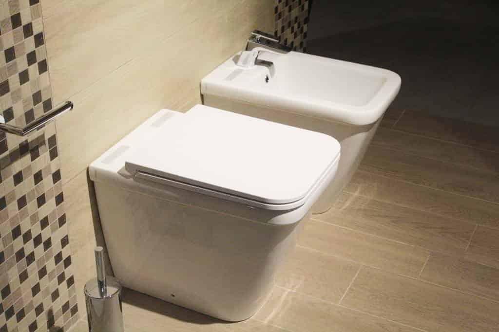 Installed toilet