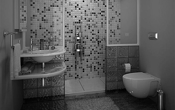 Modern wall bathroom tiles