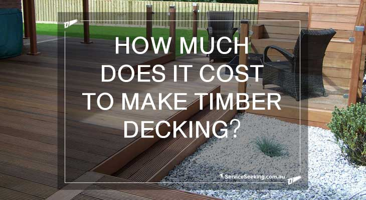 Timber deck with timber post
