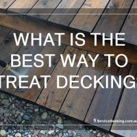 What's the best way to treat decking
