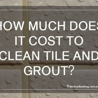 How much does it cost to clean tile and grout?