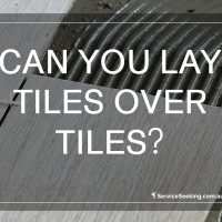 Can you lay tiles over tiles?
