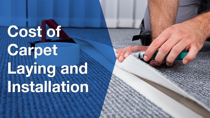 man installing carpet