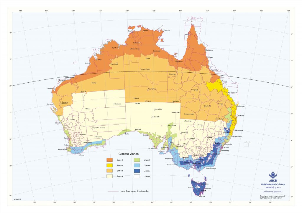 Australia climate zone map