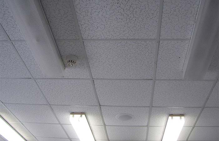 grey tone ceiling with lighting