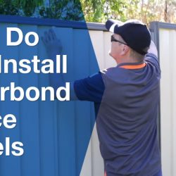 How do you install colorbond fence panels?