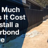 How much does it cost to install a colourbond fence?