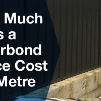 How much does a colourbond fence cost per metre?