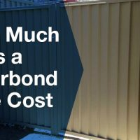 How much does a colorbond gate cost?