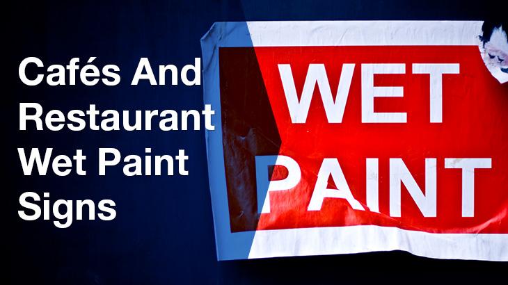 wet paint banner