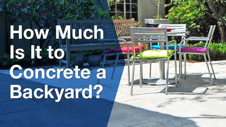 Concrete Backyard