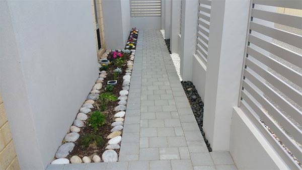 Paving the house pathway