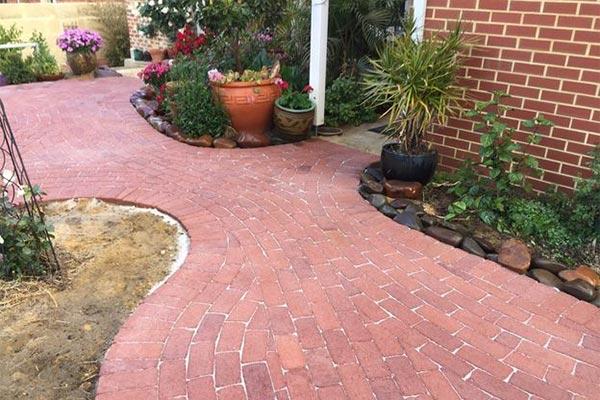 Bricks paving