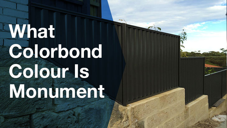 What colorbond colour is monument?