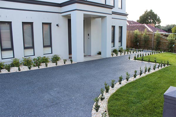 Concreted driveway