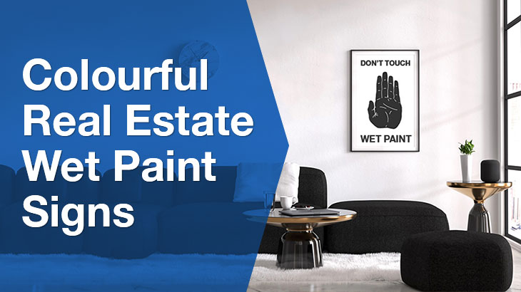 Real Estate Wet Paint banner