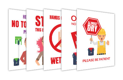 Wet Paint Signs for Your Office