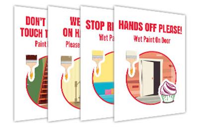 Cafés and Restaurants-Wet Paint Signs