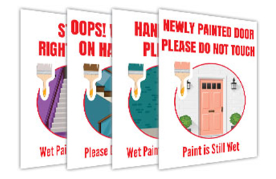 Real Estate Wet Paint Signs