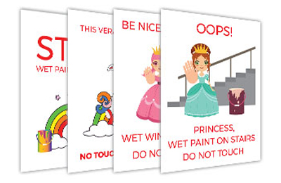Wet Paint Signs for Children