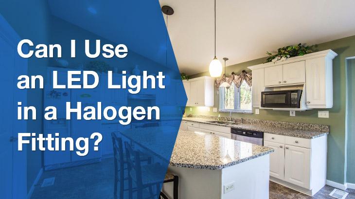 LED downlights in halogen Banner