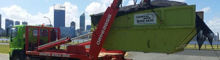 Kip bin waste truck