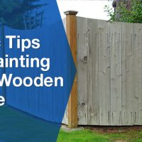 Wooden Fence Banner
