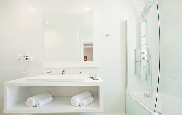 White clean basin bathroom