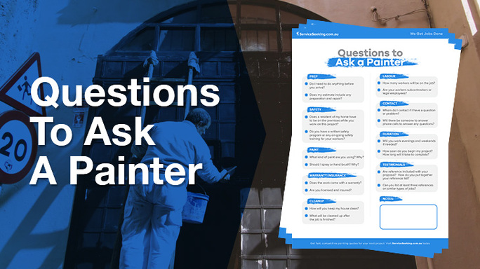 Questions to ask a painter checklists.
