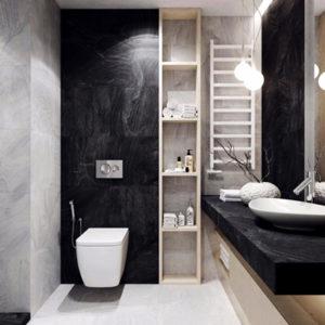 black and white bathroom tiles design