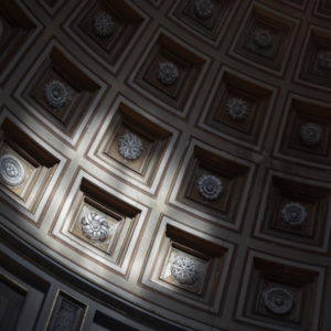 modern brown coffered ceiling