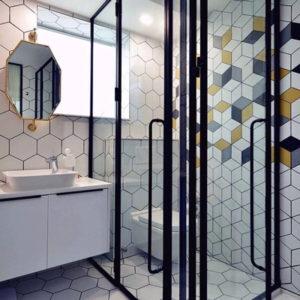 colourful bathroom tiles design