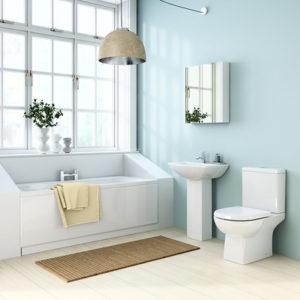 sturdy and masculine looking geometrical bathroom