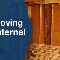 Wooden internal wall