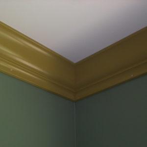 installed crown moulding