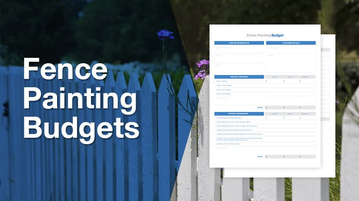 Fence Painting Budget Template Downloads