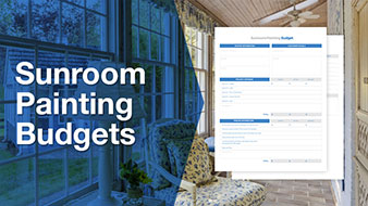 Sunroom painting budget template free download