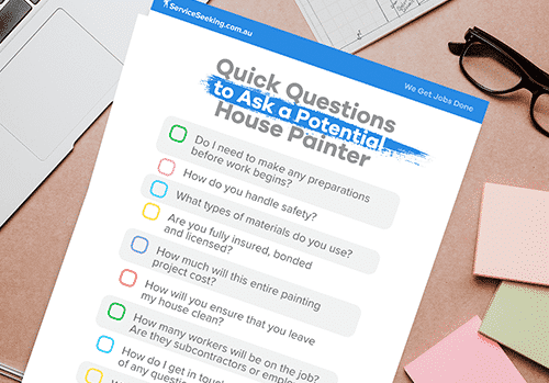 Quick questions to ask a potential house painter free download.